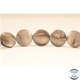 Perles en nacre - Disques/11 mm - Gris