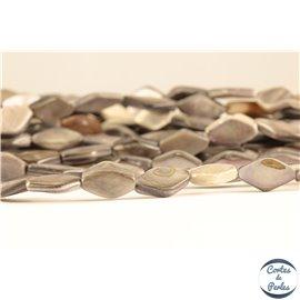 Perles en nacre - Losanges/13 mm - Gris