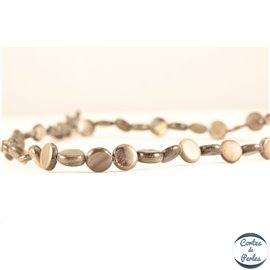 Perles en nacre - Disques/9 mm - Gris