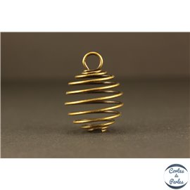 Cage à perles - 20 mm - Bronze