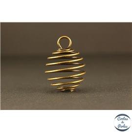 Cage à perles - 20 mm - Bronze