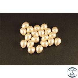 Boucles d'oreilles en perles de Majorque - Gouttes/15mm - Rose clair - Grade A