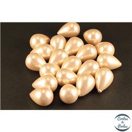 Boucles d'oreilles en perles de Majorque - Gouttes/18 mm - Rose pâle - Grade A