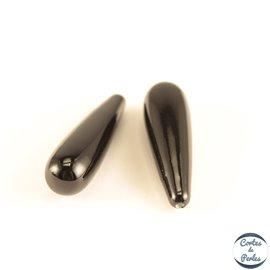 Boucles d'oreilles en perles de Majorque - Gouttes/Noire