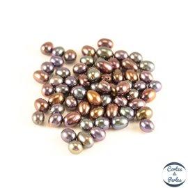 Lot de 10 paires de boucles d'oreilles en perles de culture - Gouttes/5 mm - Multicolore - Grade AA