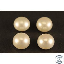 Boucles d'oreilles en perles de culture- Roue/Blanc crème