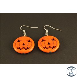 Boucles d'oreilles Halloween Citrouille - 25 mm - Orange
