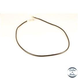 Collier cuir lisse - 3 mm - Noir