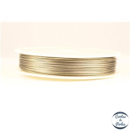 Fil cablé - 0,45 mm - Gris