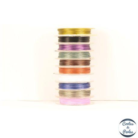Fil cablé - 0,38 mm - Multicolore