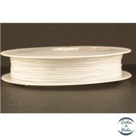 Fil cablé - 0,38 mm - Blanc