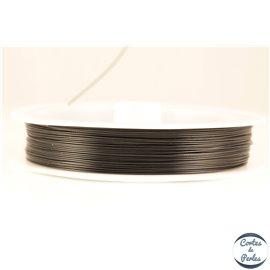 Fil cablé - 0,45 mm - Noir