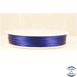 Fil cablé - 0,45 mm - Bleu