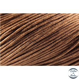 Cordon de coton ciré - 1 mm - Marron