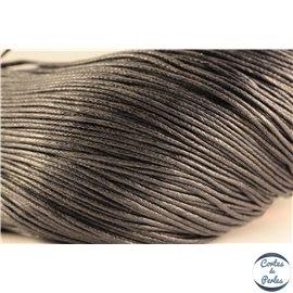 Cordon de coton ciré - 1 mm - Noir