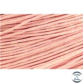 Cordon de coton ciré - 1 mm - Rose