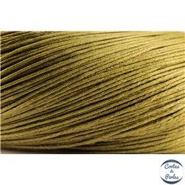 Cordon de coton ciré - 1 mm - Vert