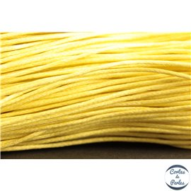 Cordon de coton ciré - 1 mm - Jaune