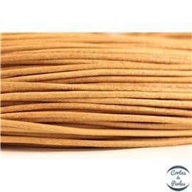 Cordon cuir - 1,5 mm - Beige