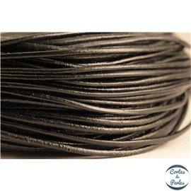 Cordon cuir - 2 mm - Noir