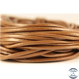 Cordon cuir - 2 mm - Marron