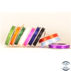 Bobine de fil élastique - 0,6 mm - Multicolore