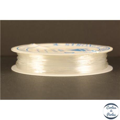 Bobine de fil élastique - 0,8 mm - Transparent