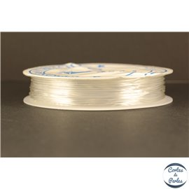 Bobine de fil élastique - 1 mm - Transparent