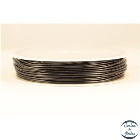 Bobine de fil élastique - 1 mm - Noir
