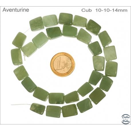 Perles semi précieuses en Aventurine - Nuggets/10 mm - Vert
