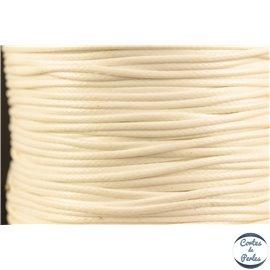 Bobine de fil de polyester ciré - 1 mm - Blanc