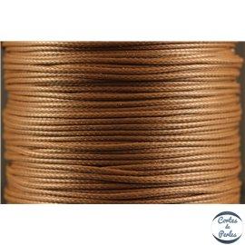 Bobine de fil de polyester ciré - 1 mm - Marron