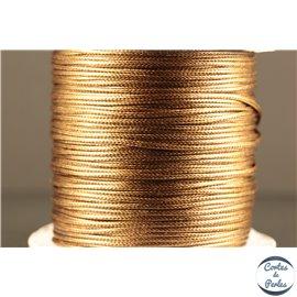 Bobine de fil élastique - 1 mm - Marron clair