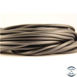 Cordon caoutchouc - 3 mm - Noir