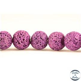 Perles de lave - Rondes/10 mm - Violet