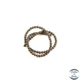 Perles de lave - Rondes/4 mm - Noir