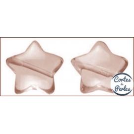 Perles en verre lisses - Étoiles/16 mm - Rose