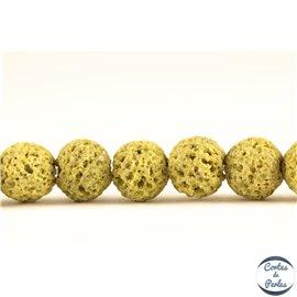 Perles de lave - Rondes/8 mm - Vert