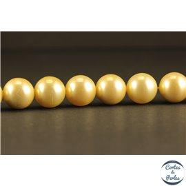 Perles de Majorque - Ronde/10 mm - Jaune - Grade A