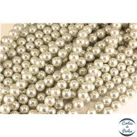 Perles d'imitation - Rondes/10 mm - Gris - Grade A