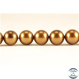 Perles de Majorque - Ronde/ Ø 10 mm - Marron - Grade A