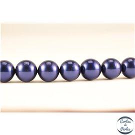 Perles de Majorque - Ronde/ Ø 10 mm - Bleu nuit - Grade A