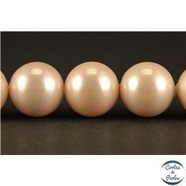 Perles de Majorque - Ronde/ Ø 10 mm - Rose - Grade A