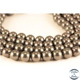 Perles de Majorque - Ronde/ Ø 10 mm - Noir - Grade A