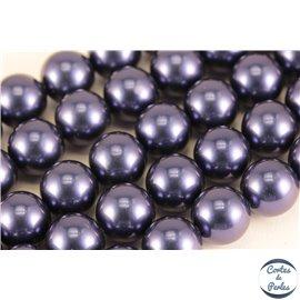 Perles de Majorque - Ronde/ Ø 10 mm - Bleu violet - Grade A