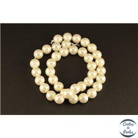 Perles de Majorque - Ronde/ Ø 10 mm - Blanc - Grade A