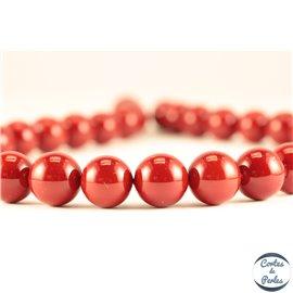 Perles de Majorque - Ronde/ Ø 12 mm - Rouge - Grade A