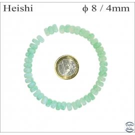 Perles en verre lisses - Roues/8 mm - Powdergreen
