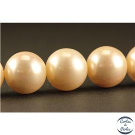 Perles de Majorque - Ronde/ Ø 12 mm - Blanc - Grade A