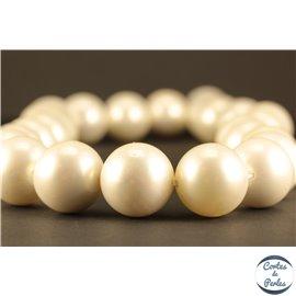 Perles de Majorque - Ronde/ Ø 16 mm - Rose - Grade A